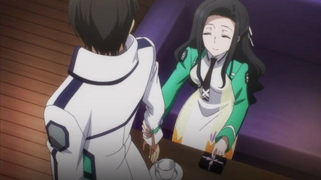 The Irregular at Magic High School: Visitor Arc Episode 6: Mayumi wasn't about to let Tatsuya leave without tasting the chocolate