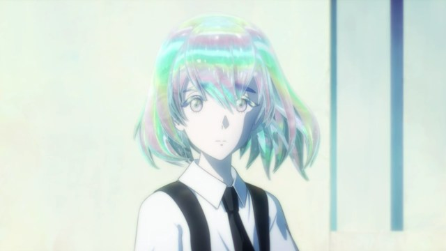 Land of the Lustrous Episode 10: Diamond did not like seeing Phos and Bort go on patrol