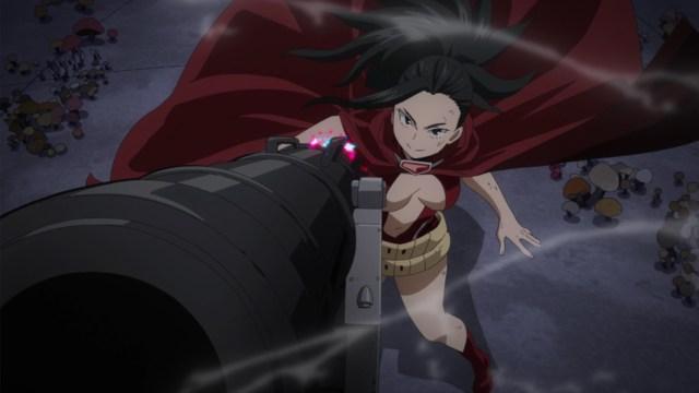 My Hero Academia Season 5 Episode 94: Momo's cannon shocked the heck out of Itsuka