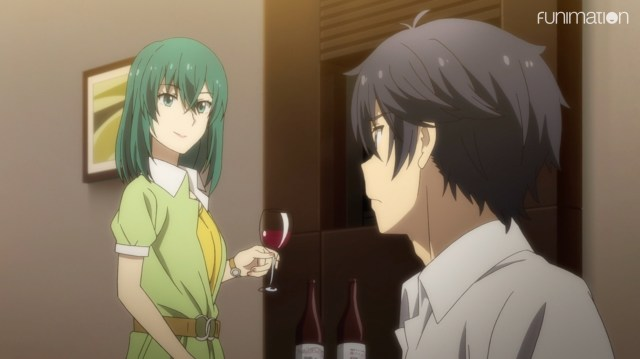 The Women of YU-NO: Kaori was not above offering wine to a minor.