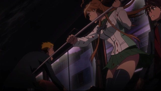 High School of the Dead Episode 3: Rei was done taking crap from anyone