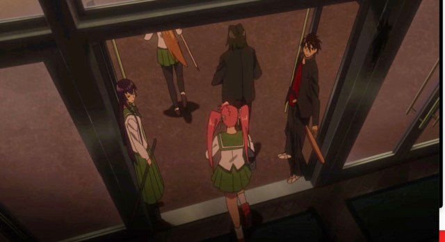High School of the Dead Episode 3: Takashi and Saeko worked together well