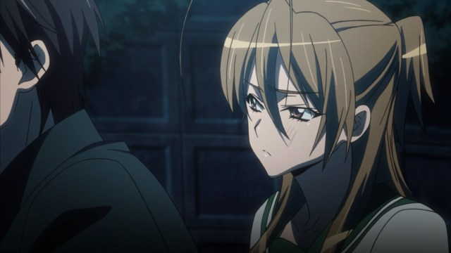 High School of the Dead Episode 4: Rei did not like Takashi's clarity of vision clashing with her hopes