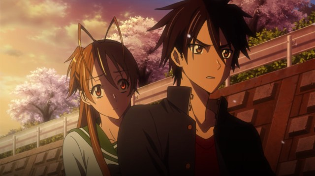High School of the Dead Episode 5: Rei and Takashi were starting to run out of options