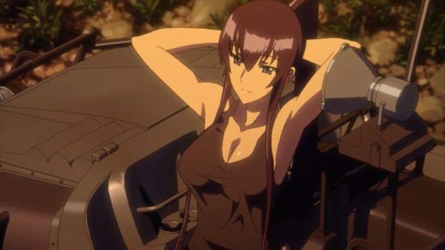 High School of the Dead Episode 9: Saeko seemed to enjoy Takashi's attention