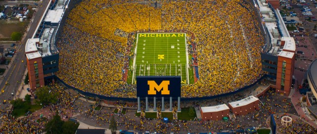 The Big House, a cathedral of college football. Photo from annarbor.com