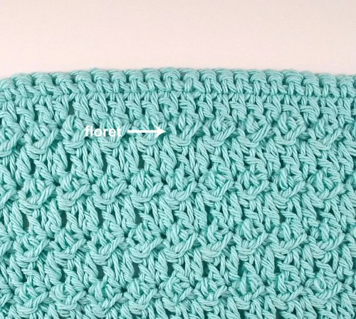 floret stitch crochet washcloth