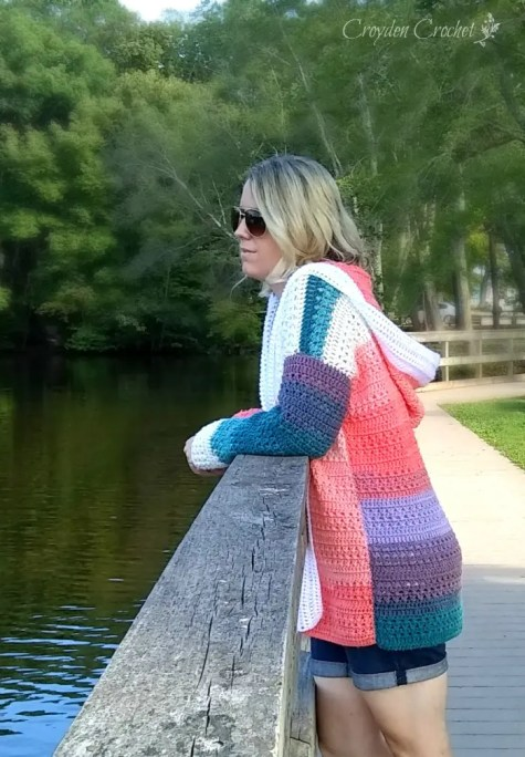 Crochet Colorblock Cardigan Free Pattern By Croyden Crochet