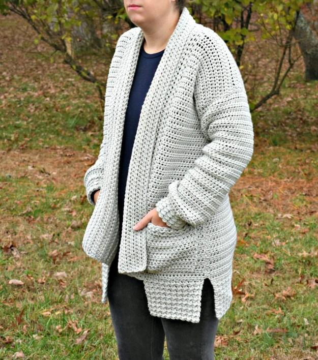 bellevue cardigan crochet pattern