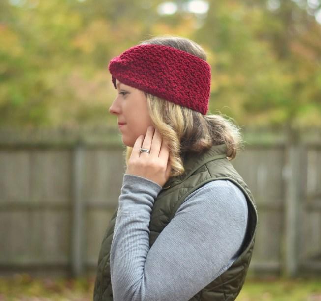 classic twisted earwarmer crochet pattern
