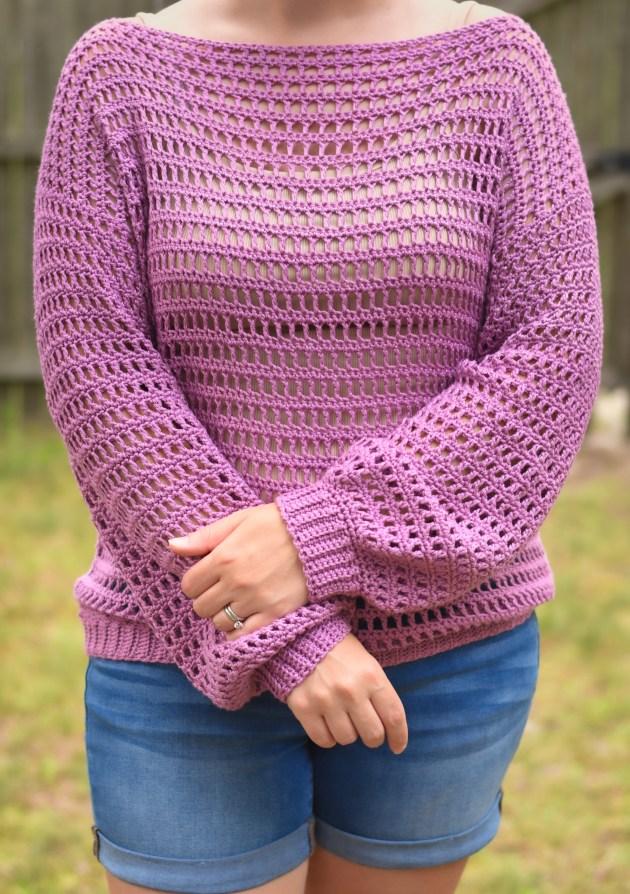 crochet truboo mesh top