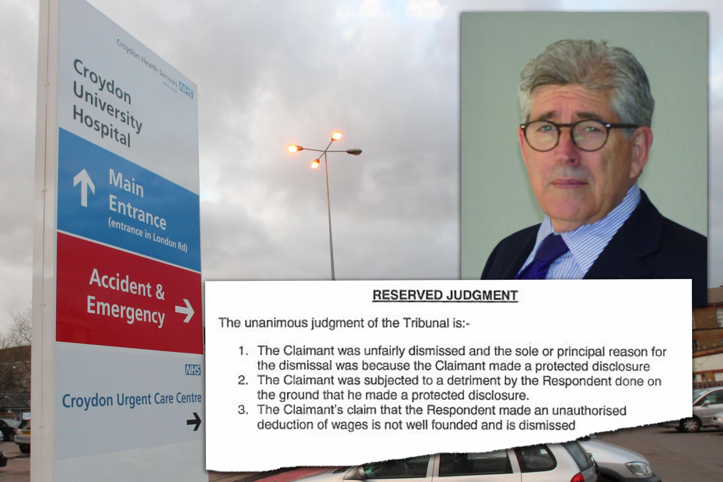 Kevin Beatt was sacked by Croydon University Hospital for whisteblowing on patient safety