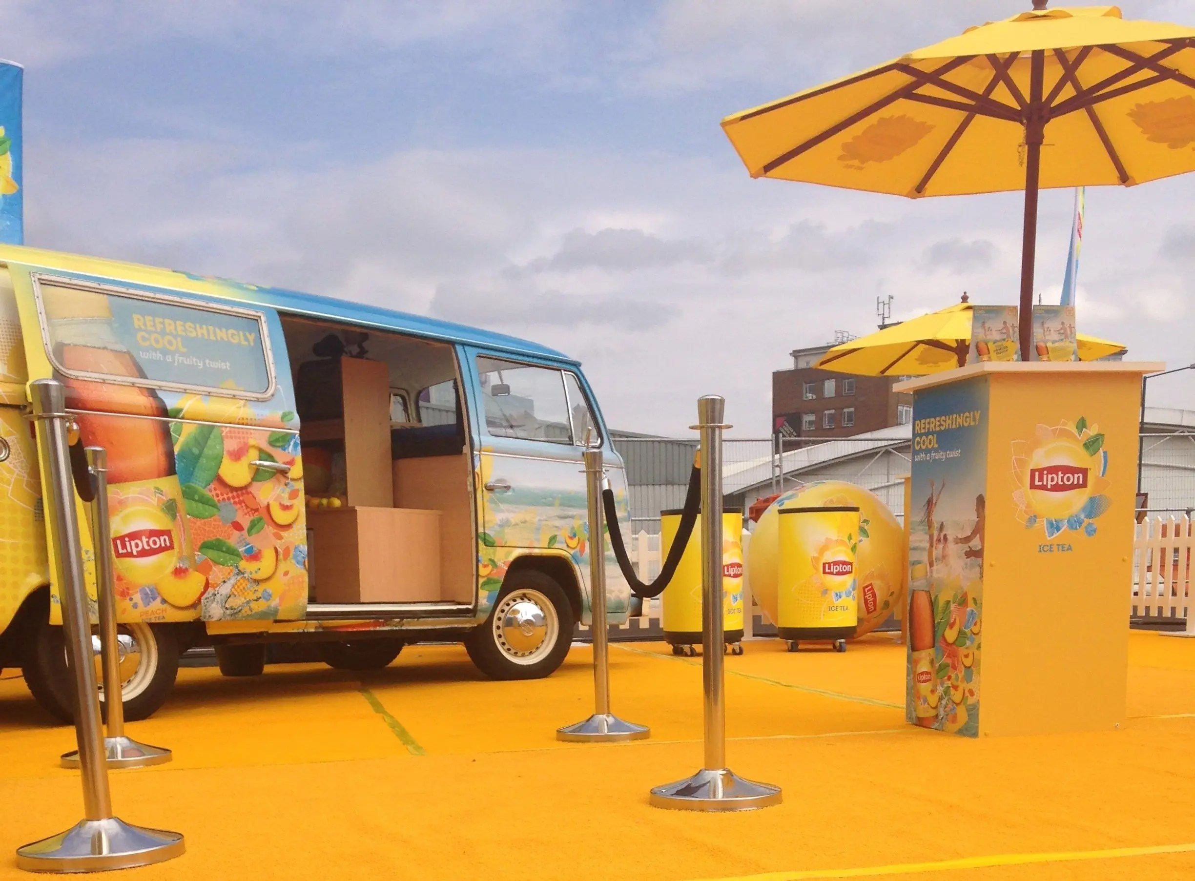 Branded campervan experiential marketing