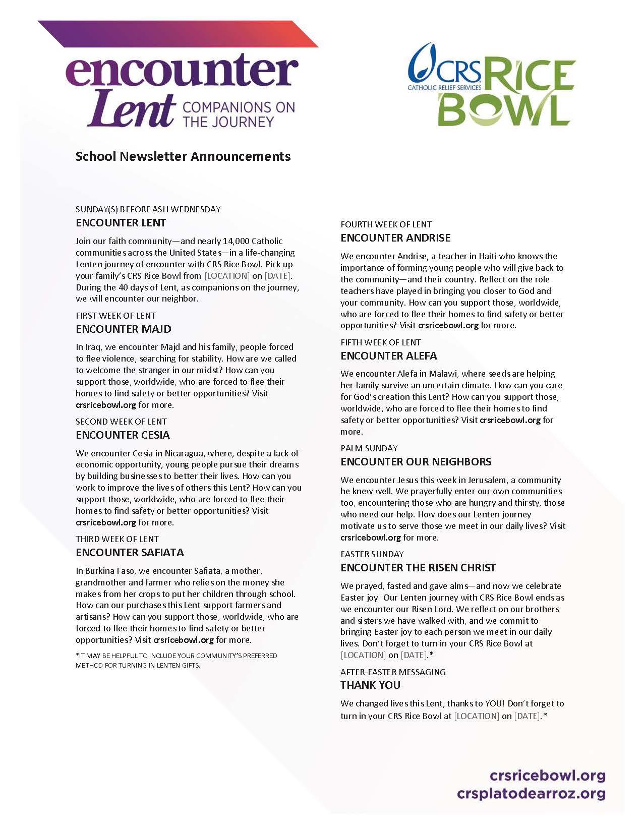 Lenten Activities For Schools