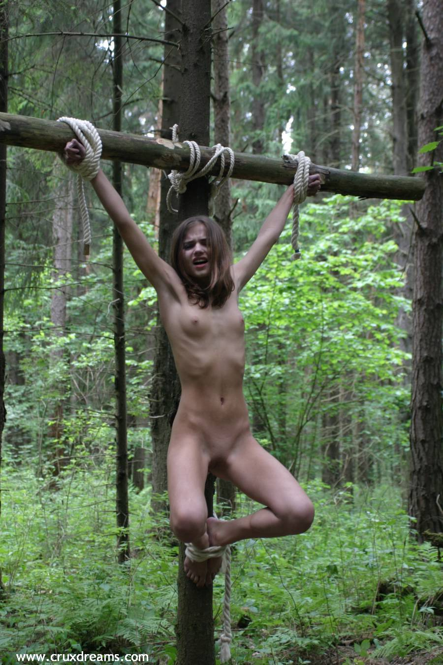 Outdoor bondage with my new friend 7