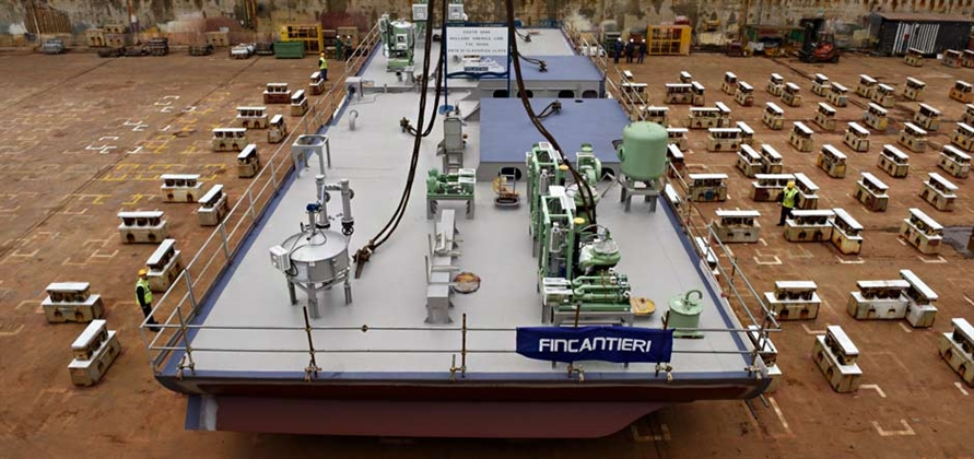 Fincantieri lays first keel block for Nieuw Statendam