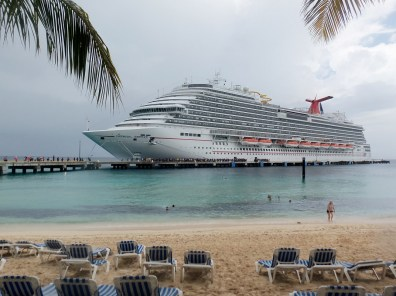 Carnival Breeze from the beach