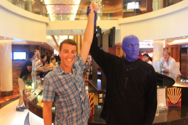 Following my guest performance with The Blue Man Group