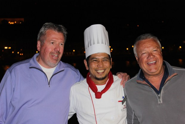Chef Ruel, always taking care of his guests.