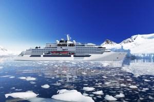 Rendering von der CRYSTAL ENDEAVOR im Treibeis der Polar-Region