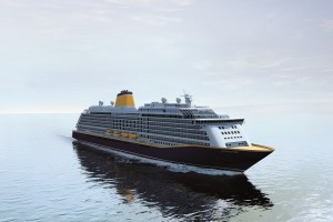 Spirit of Discovery wird in Dover getauft