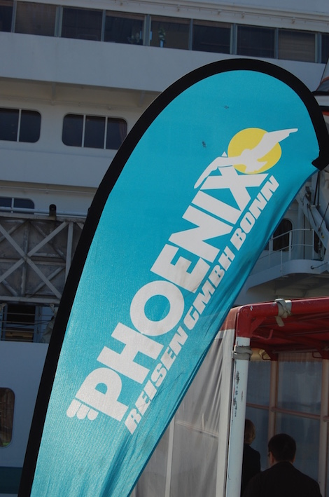 Amadea-Rettungsring Schiffsbesichtigung der MS Amadea in Hamburg von Phoenix Reisen