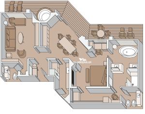 Nieuw Statendam Pinnacle Suite Stateroom