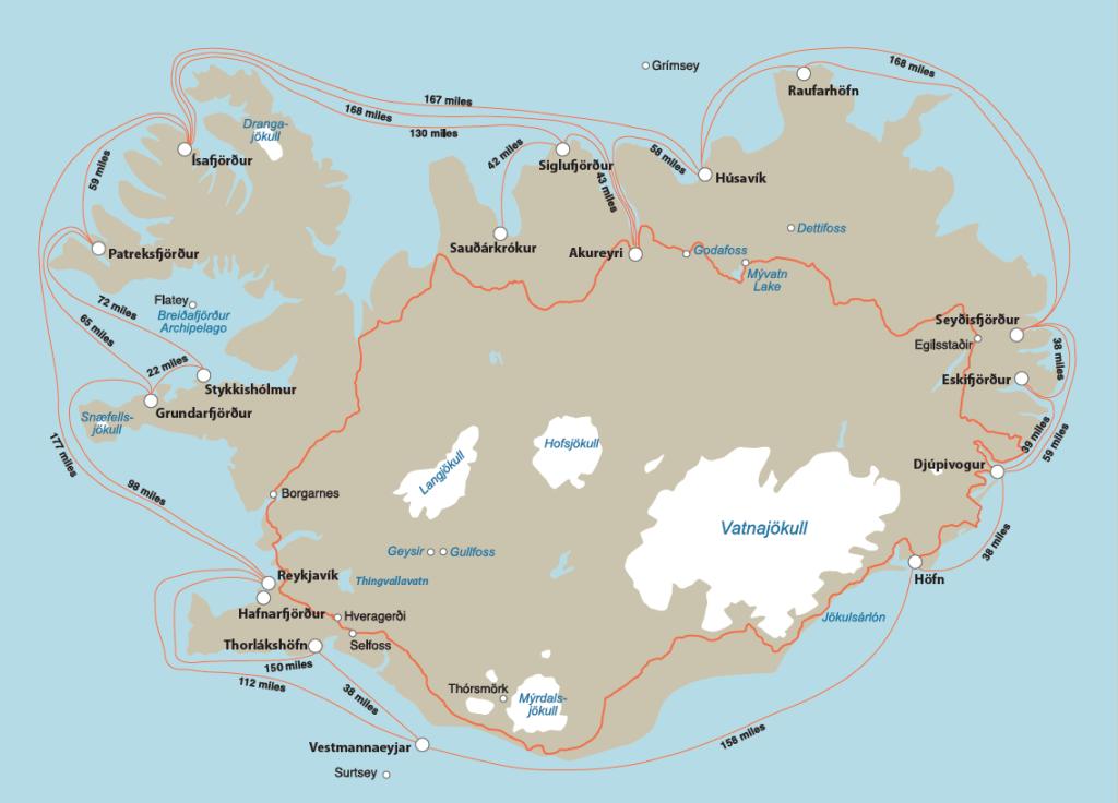 Port Distances in NM