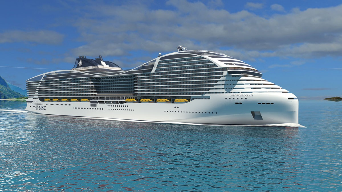 Exclusive render of MSC World Class