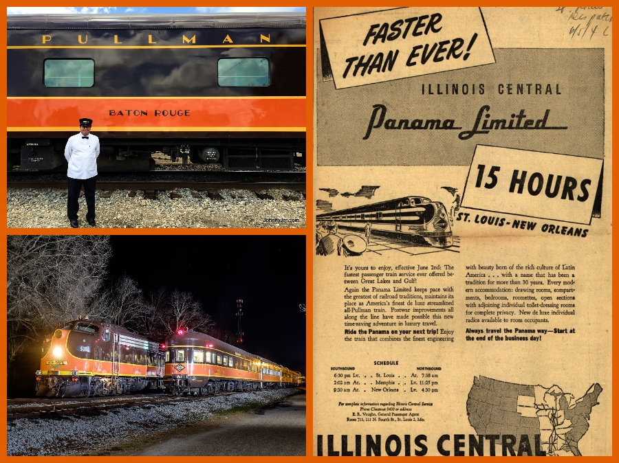 The Panama Limited All Pullman Chicago And New Orleans