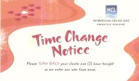 Time Change Notice