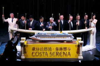 The magic moment of Costa Serena maiden call (1)