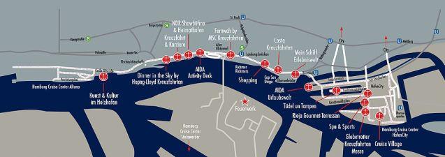 Hamburg Cruise Days 2015 overzichtskaart