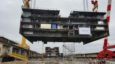 Het bouwdeel boven het dok.