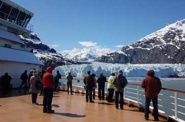Glacier Bay in 2017 toen Miriam deze gletsjer bezocht.