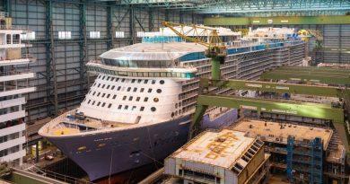 Spectrum of the Seas wordt maandag uitgedokt bij Meyer Werft