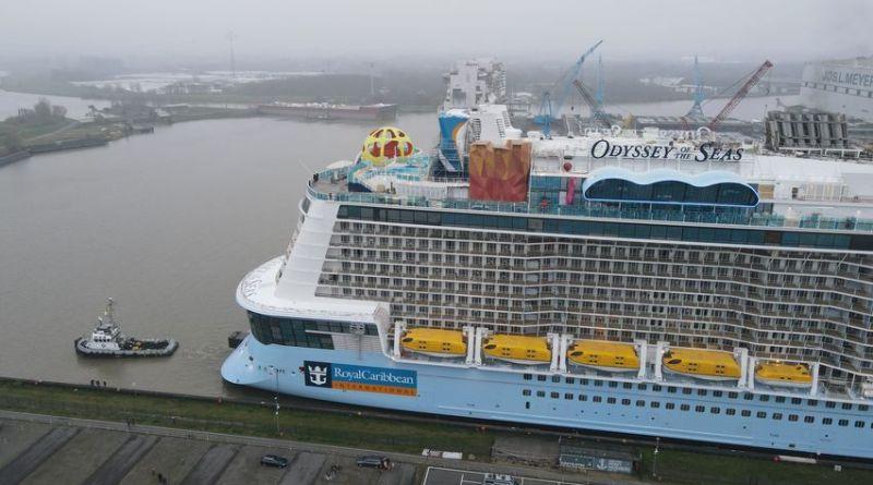Uitdokken Odyssey of the Seas bij Meyer Werft