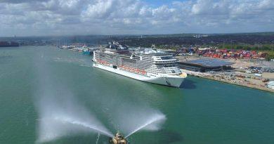MSC Virtuosa aangekomen in Southampton voor herstart cruisen vanuit VK