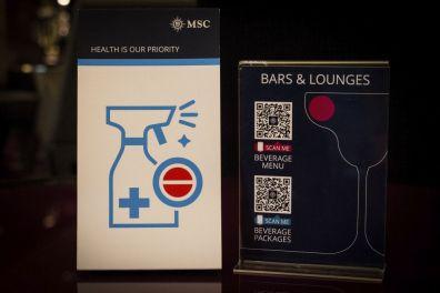 Menukaarten met QR code - Foto: MSC Cruises/Riccardo Fani