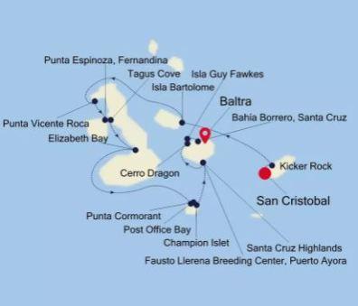 Silver Origin van San Cristobal naar Baltra