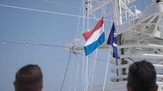 Dutch flag raised on Rotterdam