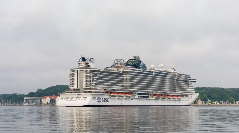 MSC Seaview vanuit Kiel