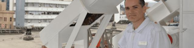 Rodrigo Souza, el primer voluntario de Naves de Esperanza en embarcarse en un barco de Costa Group