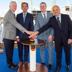 La puesta de quilla del Seven Seas Splendor marca un importante hito en su construcción