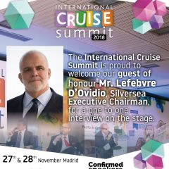 The International Cruise Summit is proud to welcome our guest of honour Mr. Lefebvre D'Ovidio