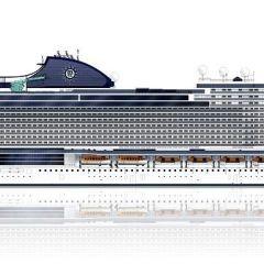 MSC Cruceros bautiza como MSC Seashore a su primer buque Seaside EVO durante la ceremonia de corte de acero en los astilleros de Fincantieri