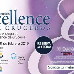Premios Excellence de Cruceros 2019 ¡Reserva la fecha!