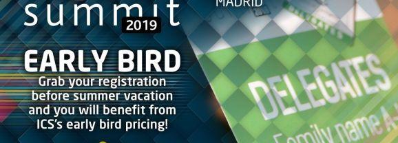 ICS 2019 – Early bird fee: REGISTER NOW!
