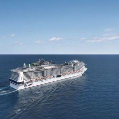 MSC Grandiosa, uno de los barcos de cruceros más avanzados en materia medioambiental, atraca por primera vez en Barcelona