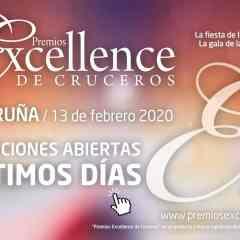 Premios Excellence de Cruceros – A Coruña 2020: votaciones abiertas – ÚLTIMOS DÍAS